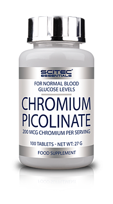 CHROMIUM PICOLINATE 200mcg Scitec Essentials 100tbl.